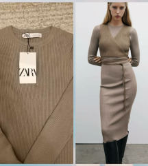 Zara pletena haljina sa etiketom