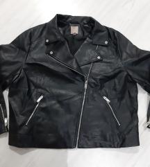 H&M crna kozna jakna vel. 2XL - kao nova