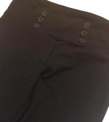 Crne pantalone visoki struk EXSY Italy