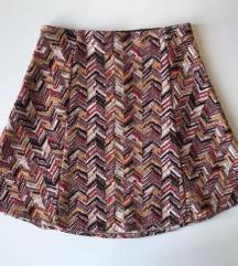 Zara Trafaluc Knitted šarena suknjica NOVO