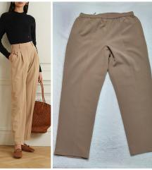 NOVE plus size kaki ravne pantalone sa dzepovima