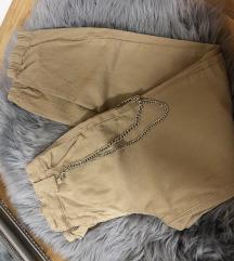 Krem pantalone sa lancem