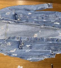 Pocepana teksas jakna iz Zare
