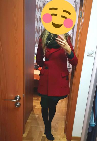 -Rez-Kao nov crveni kaput MADE IN ITALY