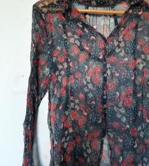 Flower svilena košulja sa slavujima, Akcija 999