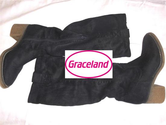 Graceland cizme teget velur 40/41