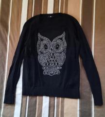 Džemper sa vezom sovice H&M