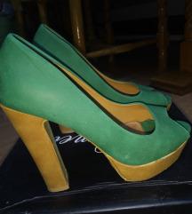 Zelene cipele-otvoreni prsti