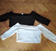 Dve bluze gola ramena XL i L