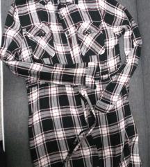 KARIRANA košulja haljina