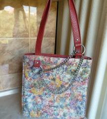 Mona torba -prirodna koža-KAO NOVA