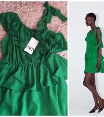 zara zelena ruffle haljina novo 💚💚💚