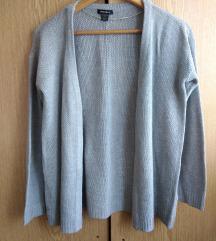 Sivi džemper kardigan