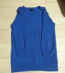 H&M plavi dzemper kao nov