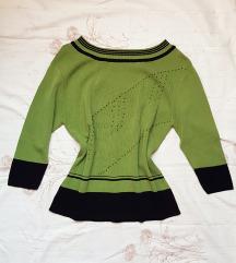 Zelena tanja bluzima sa elastinom