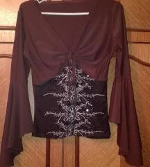 Gothic bluzica sa širokim rukavima