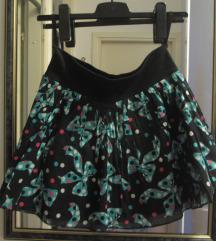 Suknja, pun krug, nepeglane faltice