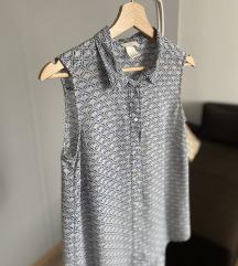 H&M belo plava bluza bez rukava 36
