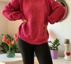 Pink baggy džemper