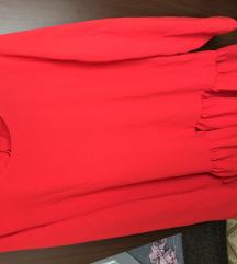 Zara crvena haljina tunika