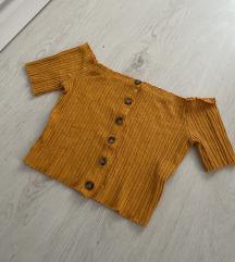 Bershka crop top majica bez ramena