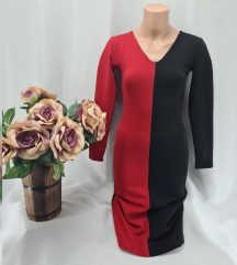 Crveno crna haljina vel.Xs