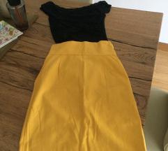 Rezervisano Žuta teksas suknja & Zara majica