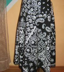 Crno-bela pamučna suknja