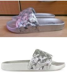 Srebrne papuce 40 Novo