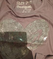 DESIGUAL original majica dug rukav 7-8 god