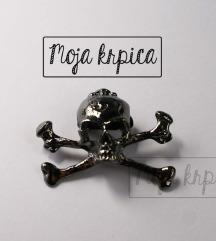 Metalni punk skelet goth broševi