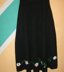 Crna trikotažna suknja na lastiš