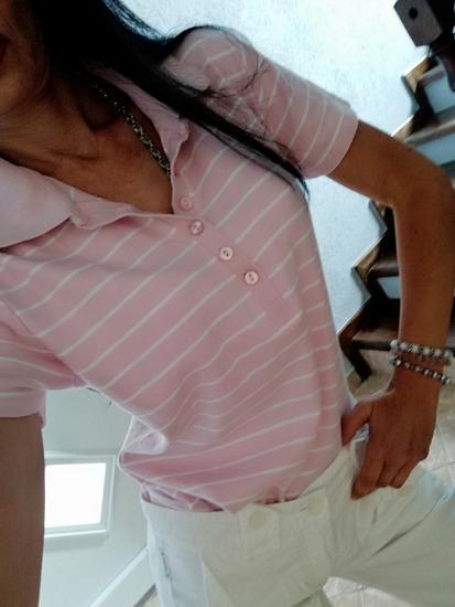 Polo majica, puder roze