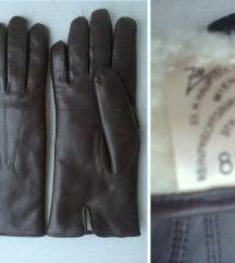 rukavice kožne braon duže zimske broj 8,5