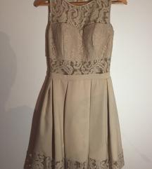 Svečana bež haljina