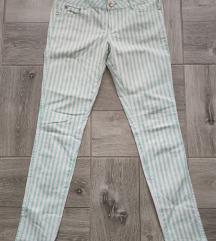 Pantalone mint plave na strafte vel XL