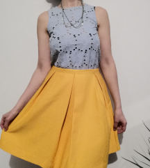 H&M zuta suknja S-M