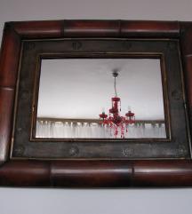 Ogledalo / Bambus / 84x70cm