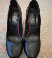Crne kozne cipele/salonke