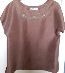 Bluza, svila 100%, svetlo braon