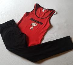 Potpuno nove crne helanke + poklon majica 36