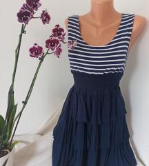 Viskozna haljina sa prugicama i karnerima vel S