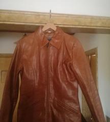 Nova kožna braon ženska jakna