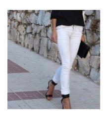 Bele lagane letnje pantalone M(38)