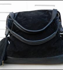 Velika atraktivna crna torba sa novcanikom