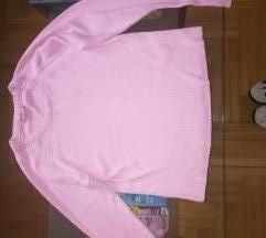 Roze oversized džemper