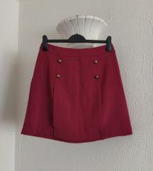 Amisu bordo elegantna suknja