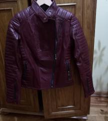 Kozna jakna bordo