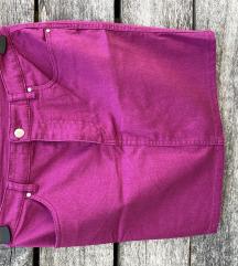 Nova mini suknja ciklama boje