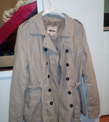 Krem jakna mantil, eko koza